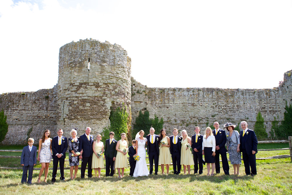 Pevensey Castle Wedding group photos