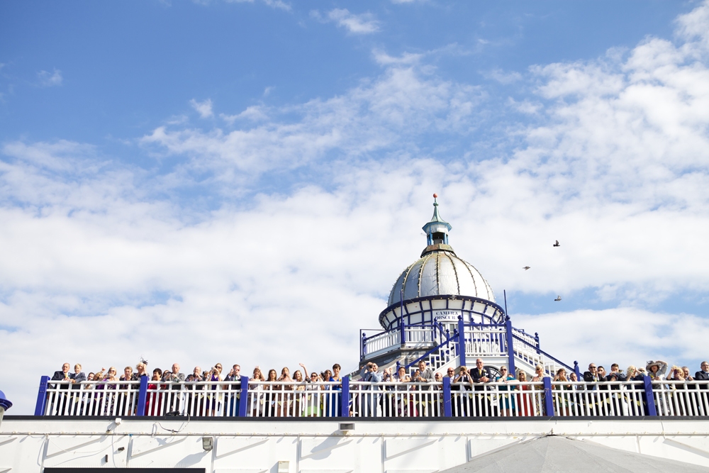 Seaside wedding on Eastbourne Pier