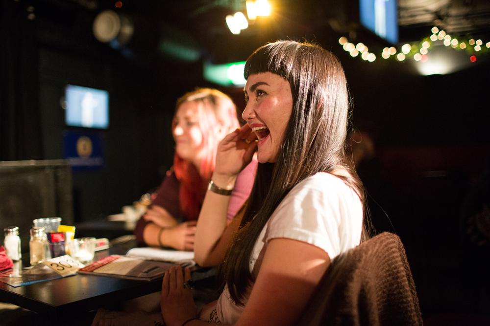 Audience laughing at Komedia Brighton