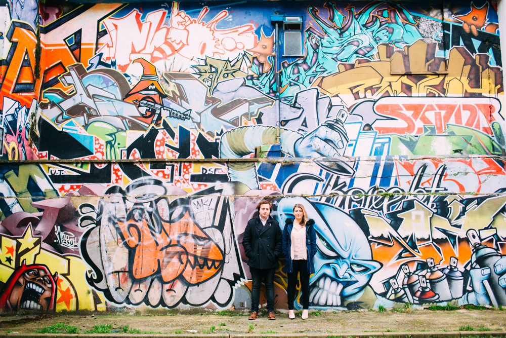 couple and brighton graffiti and street art