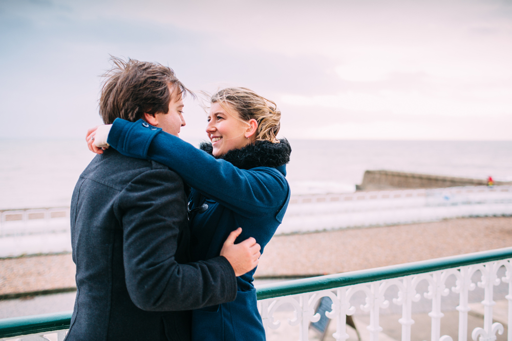 couple on Brighton Bandstand