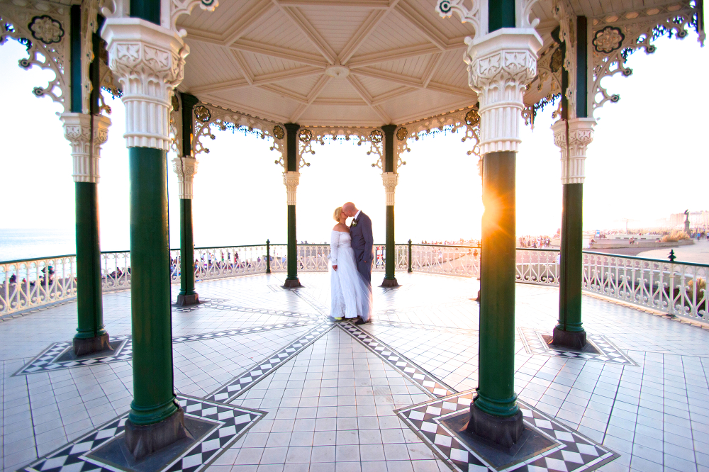 Brighton Wedding Day on The Bandstand