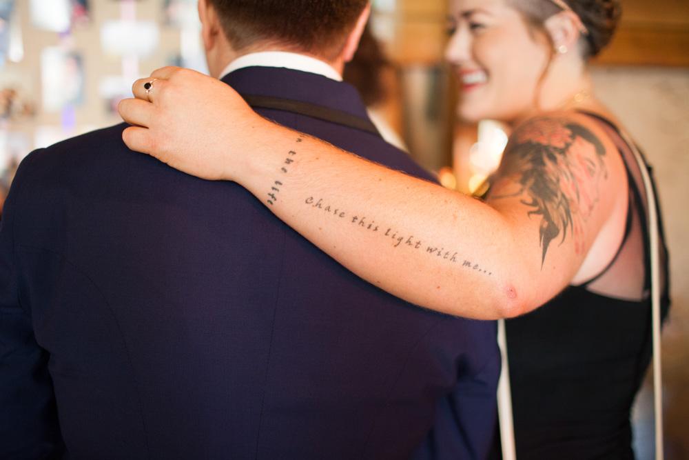 Tattoo wedding Pangdean Old Barn
