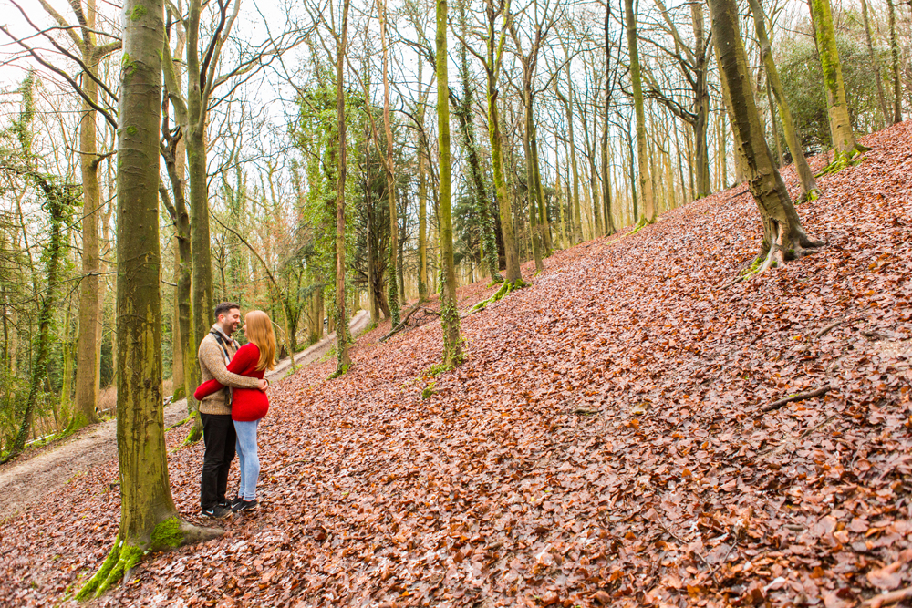 Couple in Stanmer park photography Brighton