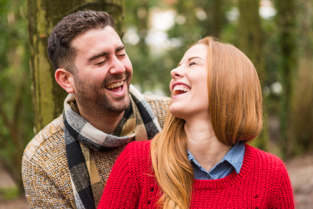 Laughing Couple- Brighton engagement photography