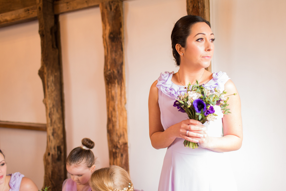 Bridesmaid at Sussex Barn Wedding
