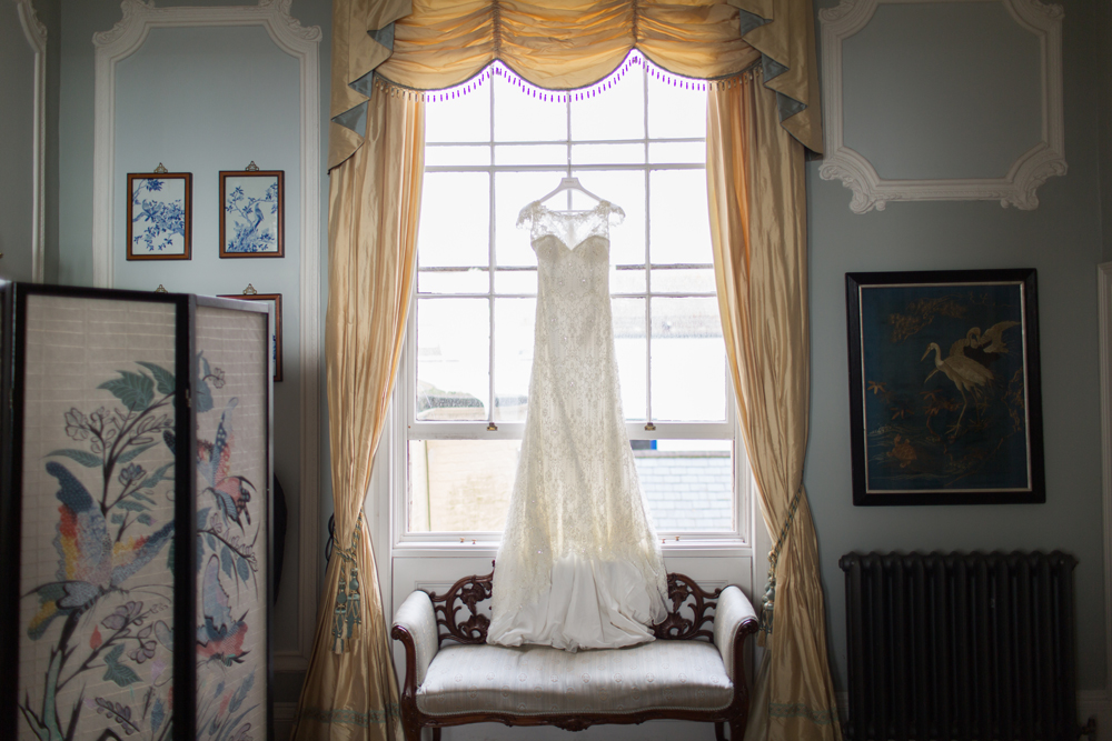 Wedding dress at Angel House Brighton Wedding