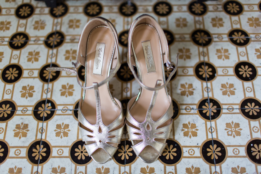 Wedding shoes at Angel House Brighton