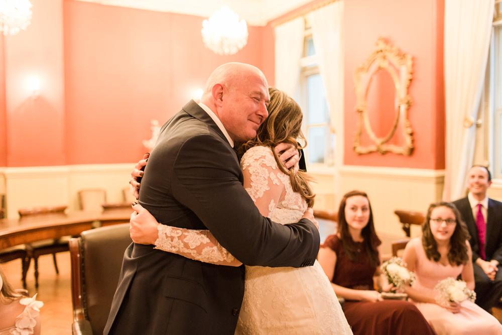 happy couple Brighton Town Hall wedding