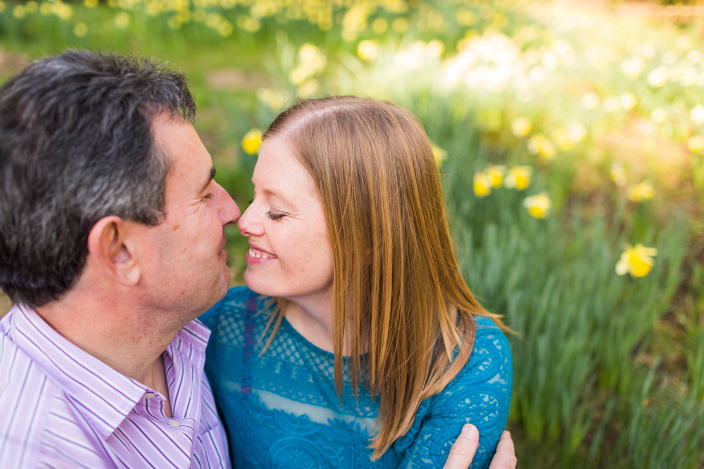 Happy Couple at Gravetye Manor Engagement Shoot