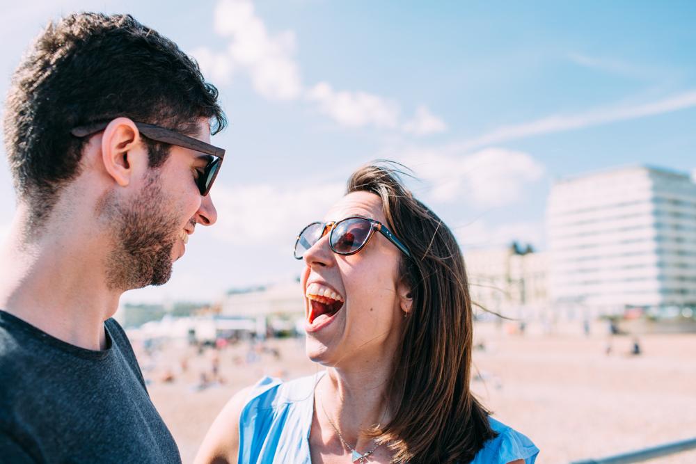 Brighton Beach Engagement Photography