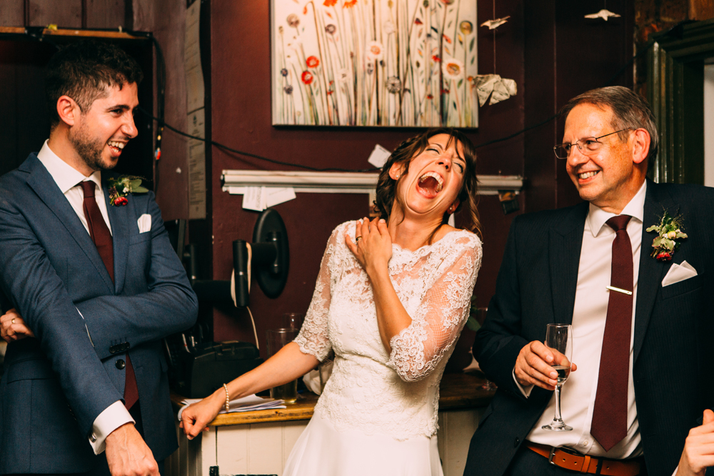 Laughing at Coach House Brighton Wedding Speeches