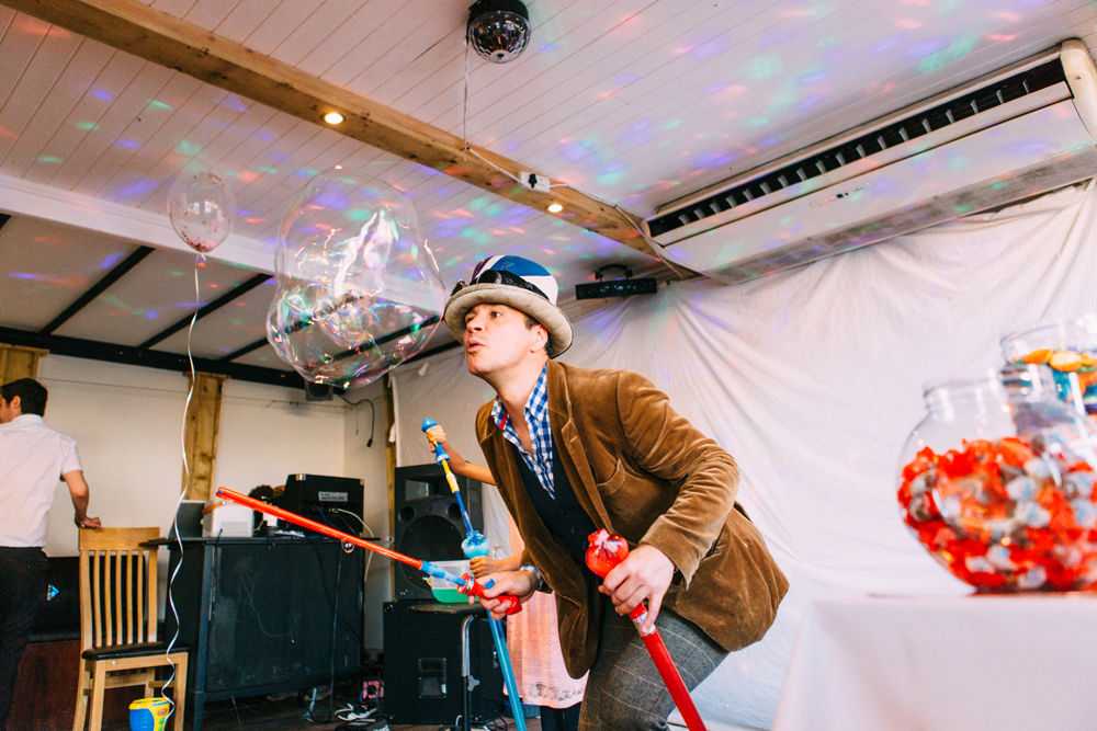 Mr Bubble at First Birthday Party at The View Brighton