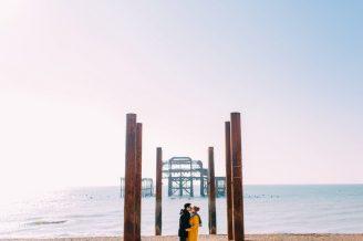 Brighton West Pier Engagement Shoot