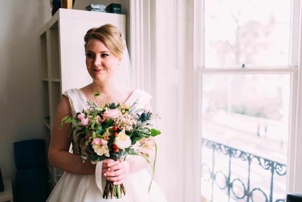 Bride at Blanch House Brighton Wedding