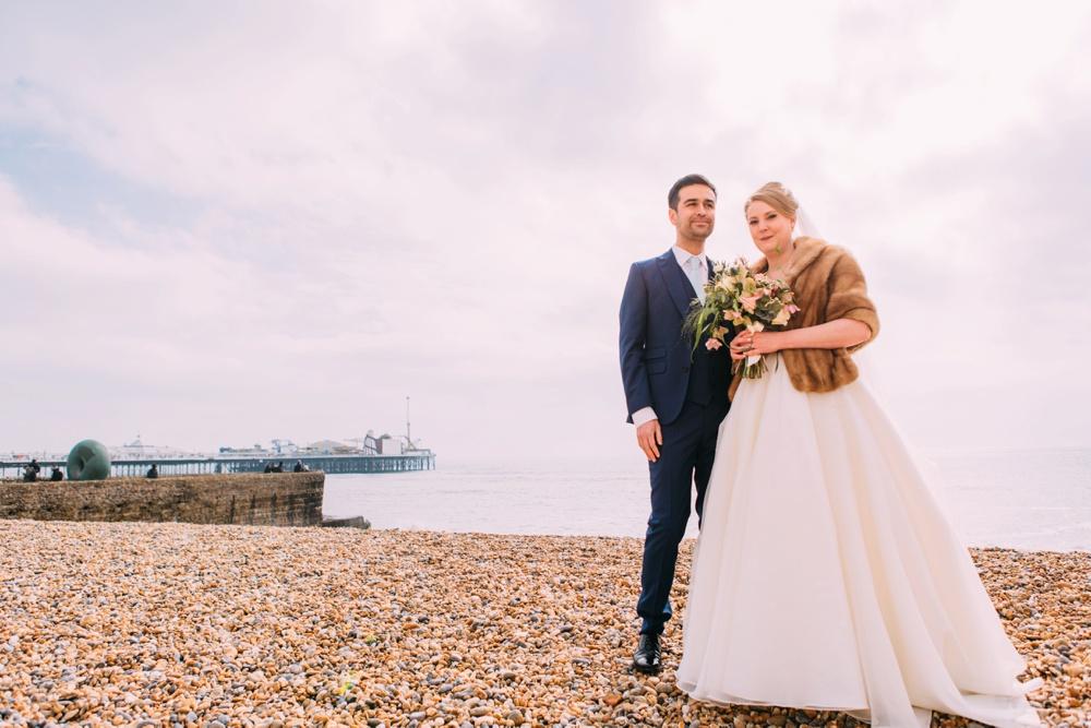 Beach Photos for Blanch House Brighton Wedding
