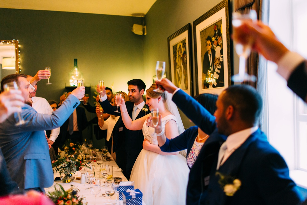 Blanch House Brighton Wedding Toast