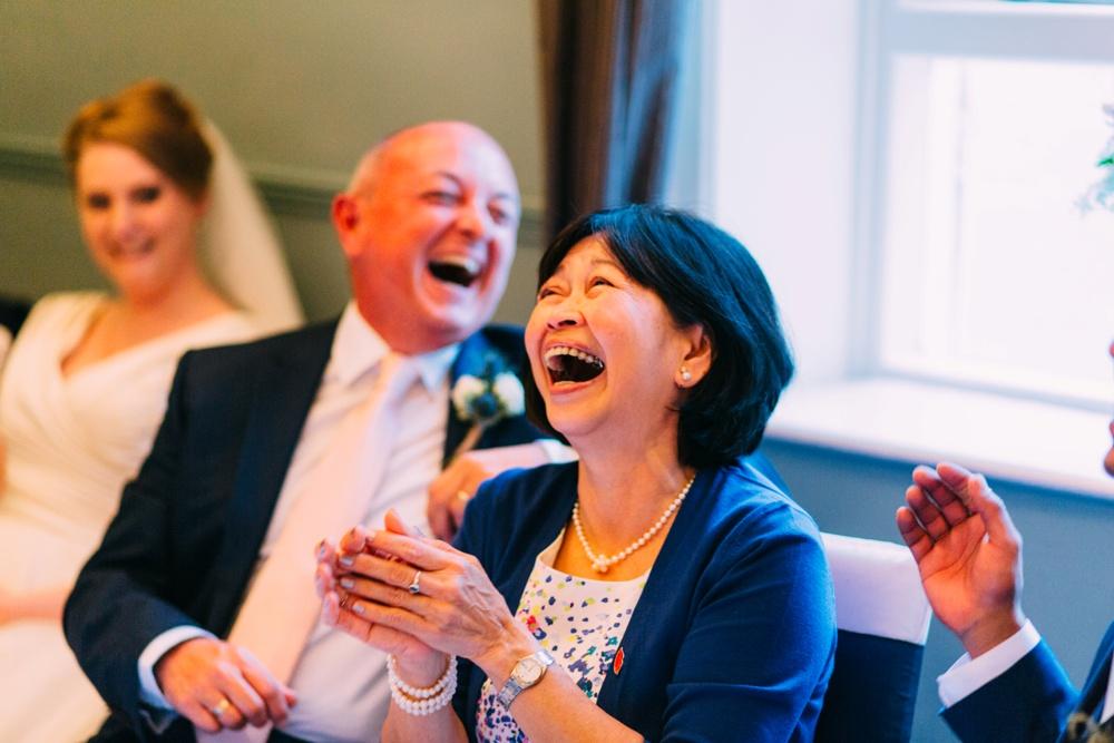 Laughing at Blanch House Brighton Wedding