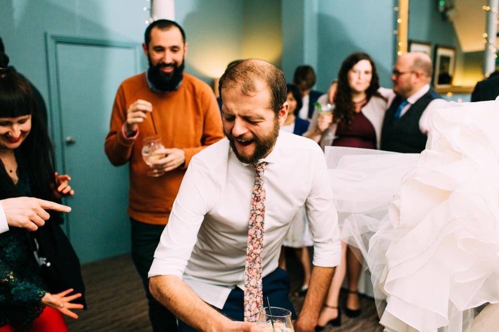 Dancing at Blanch House Brighton Wedding