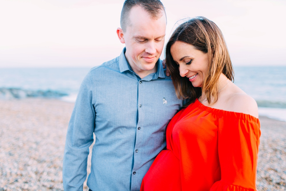 Brighton beach pregnancy photography