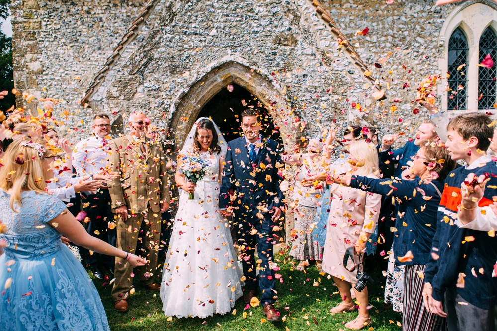 Confetti Petals Wedding Trend