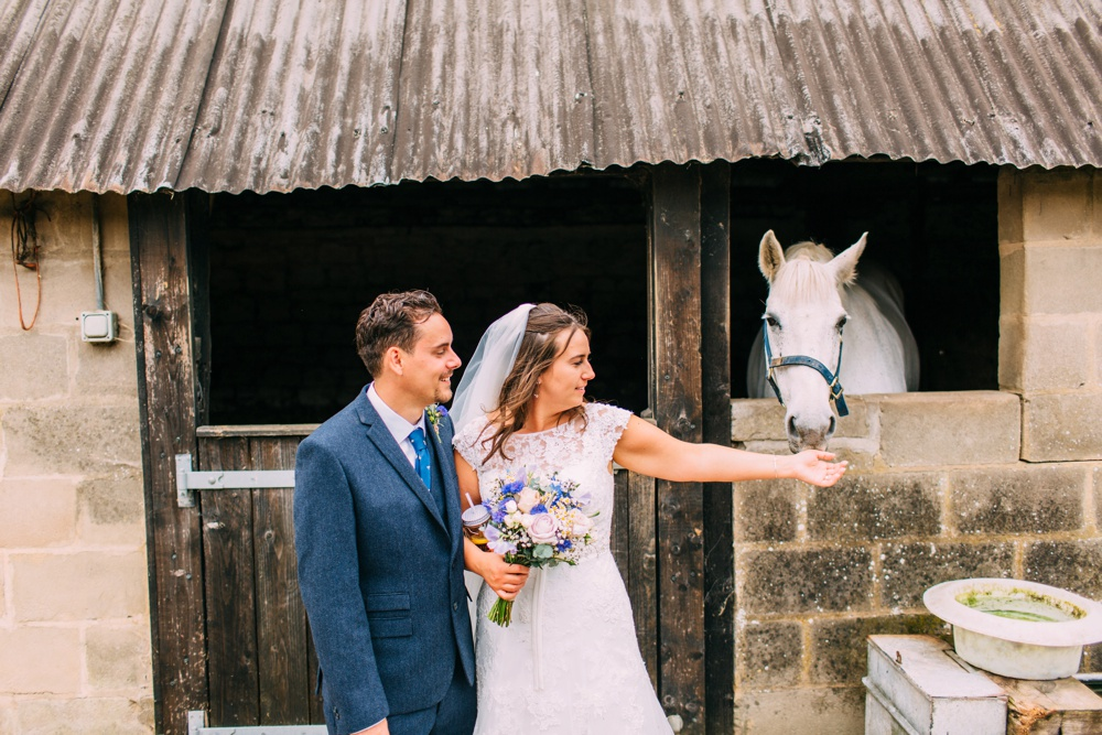 Brighton wedding photography with horse