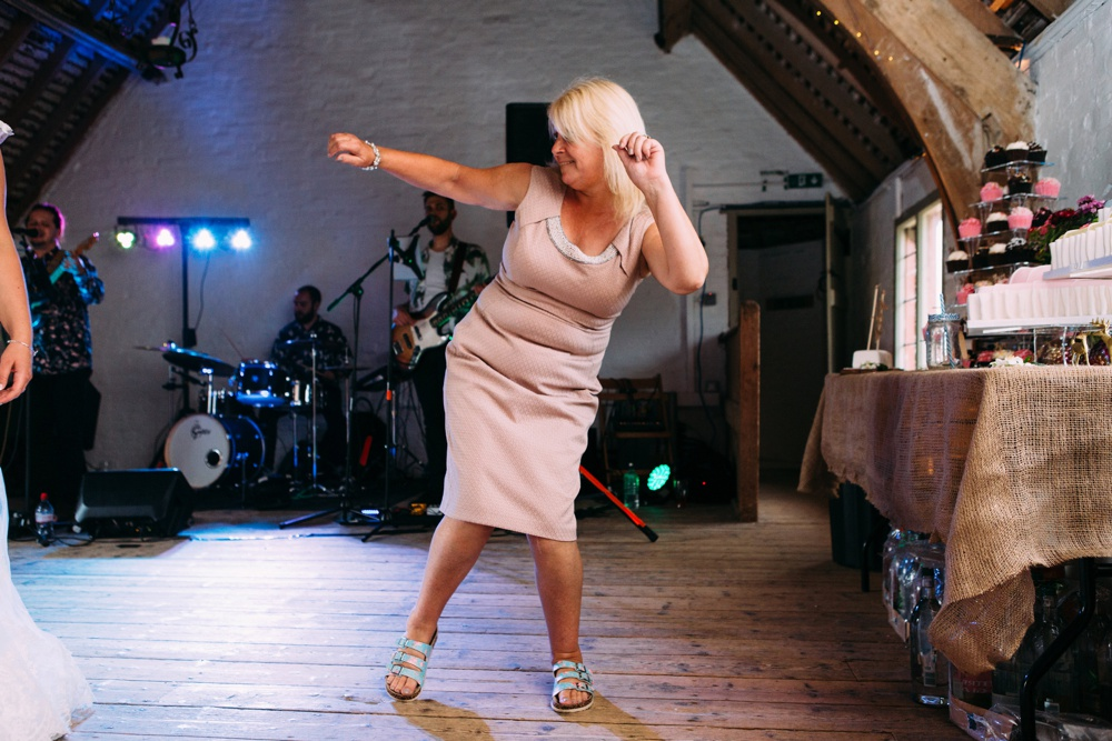Brighton wedding photography dancing mum
