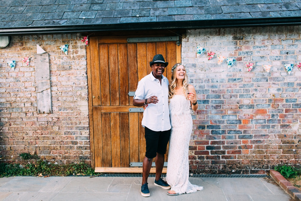 Brighton wedding photography boho bride