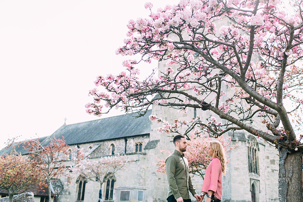Spring Engagement Shoot with Cherry Blossom