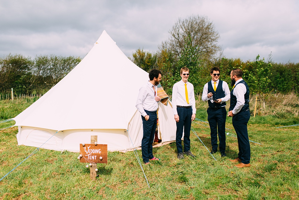 Macs chicken farm wedding campsite