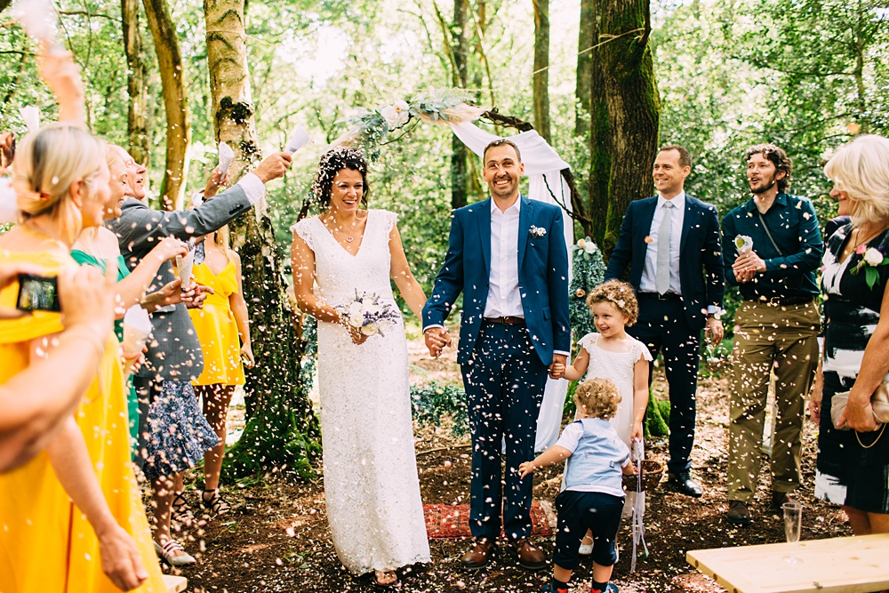 sussex woodland wedding aisle