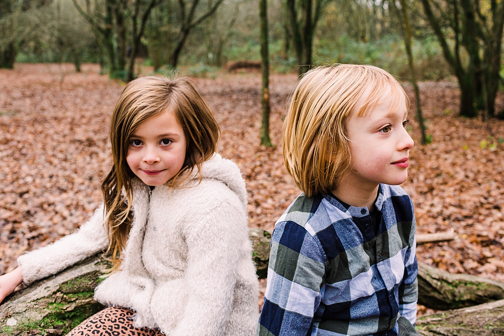 Children in Ditchling common for autumn family photo shoot