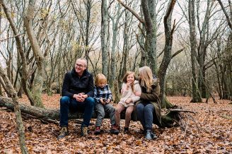 Autumn family shoot in Ditchling Common